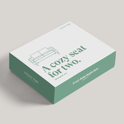 Packaging and Box Design for Albany Park Furniture Brand