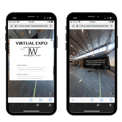 commercial virtual tour on a mobile device