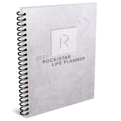 the 2021 rock/star life planner cover home page