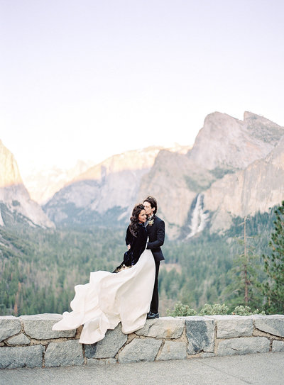 Yosemite National Park wedding captured on film Photographed by Amy Mulder Photography