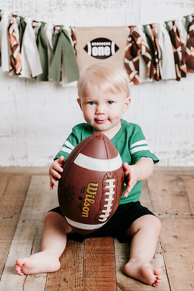 Kalvin One Year Football Cake Smash Valerie Clement Photography Boise Photographer9