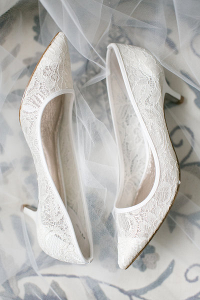 Wedding shoes at Springfield Manor