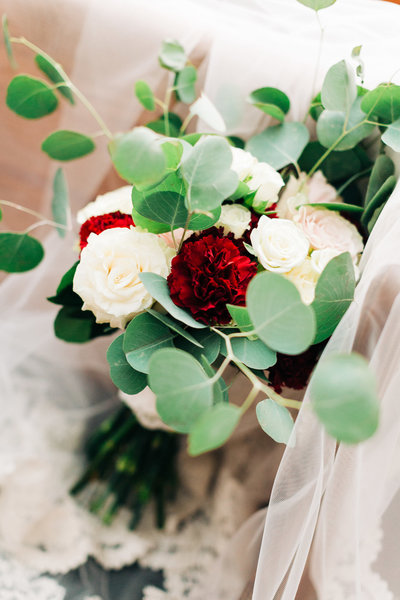 White and Red Floral Bouquet