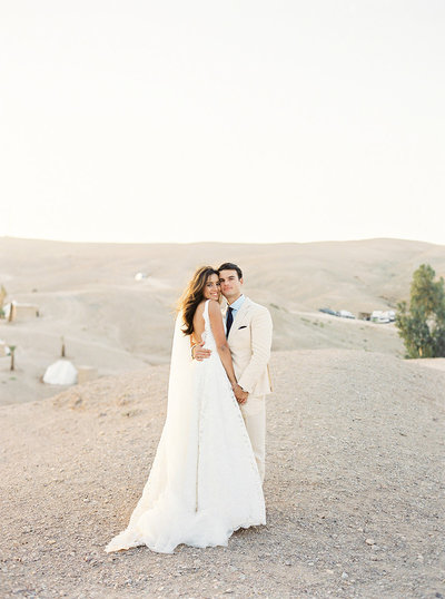 Moroccan destination wedding in the dessert outside of Marrakech