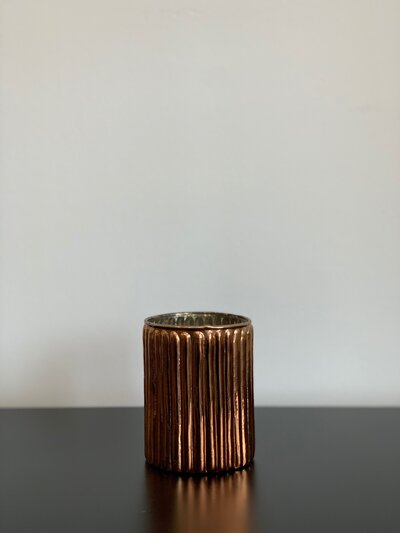 Large Rose Gold Votive Candleholder