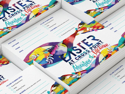 Church Easter Service Invitation Cards