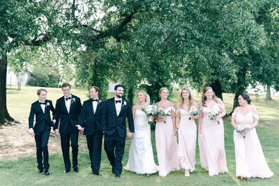 Wedding party photos at Southern House and Garden in Knoxville, AL