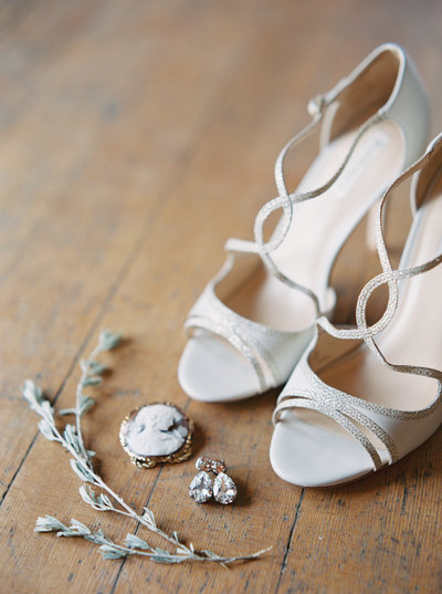 Wedding Shoes & Jewelry at Montana Wedding