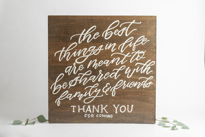 Wooden The Best Things In Life Sign
