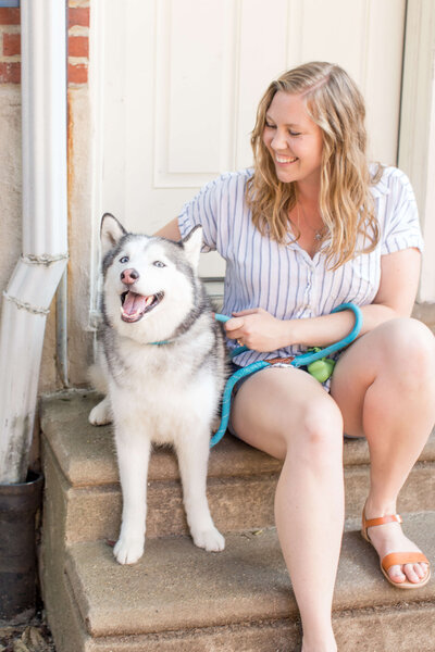 Julia Bocchese in Philadelphia with Siberian Husky