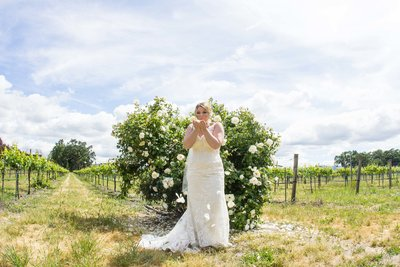 wine country wedding, country wedding, bridal portrait