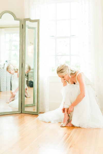 Authentic Bridal portrait at The Retreat at Eastwood  in Warrenton, Virginia.
