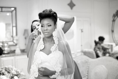 Nigerian bride getting ready in Atlanta