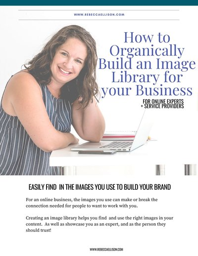 How to Organically Build an Image Library for your Business