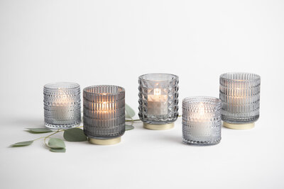 Assorted Grey Votives Rental