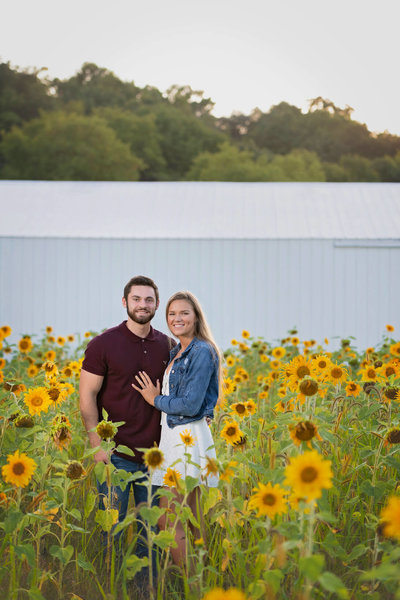 Sunflower Mini Session at The Bowery Barn Rubicon WI