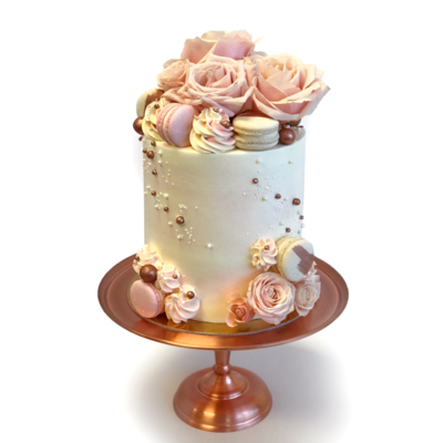 Whippt Kitchen - Luxe Floral Macaron Rose Gold and Pink