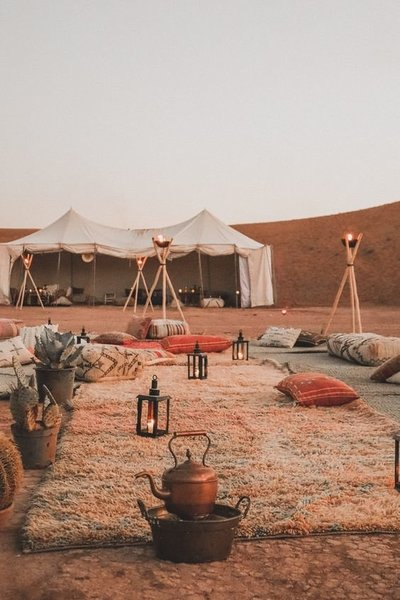 dune camp Morocco