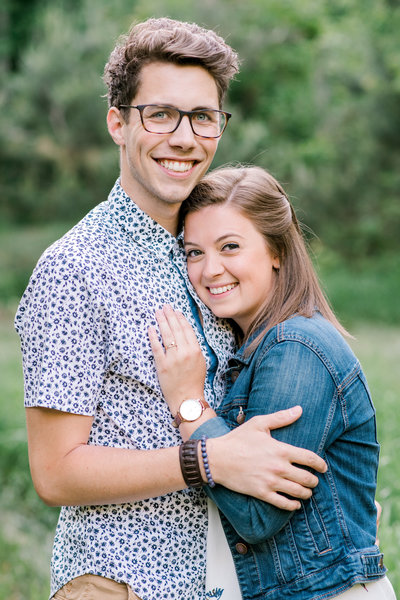 orillia christian couple outdoor portrait photo