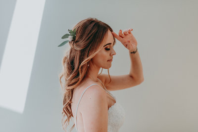 Portrait photography of San Diego Bride Getting ready