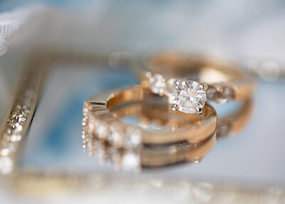 wedding ring details - Joshua and Inez