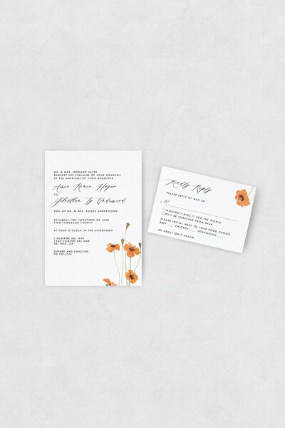 pirouettepaper.com | Wedding Stationery, Signage and Invitations | Pirouette Paper Company | Semi Custom Invitations | The Poppy 05