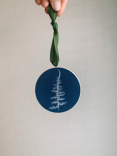 Christa Norman Studio - Cyanotype Ornaments