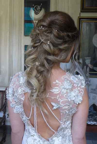 long bridal hairstyle, long hair