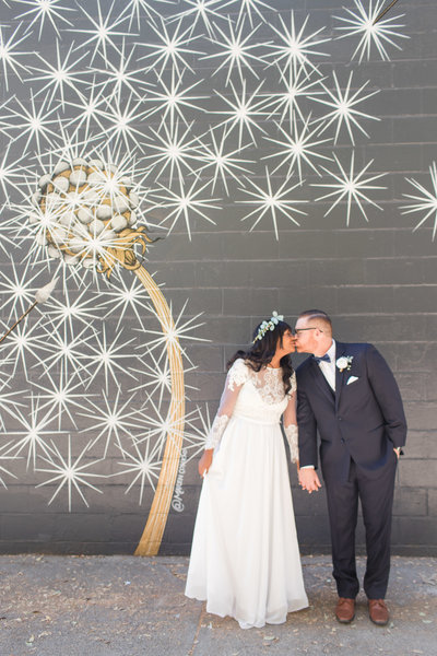 A Navy and Gold Downtown Sacramento Wedding by Adrienne and Dani Photography