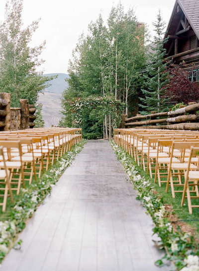 Skier bridge ceremony at the Ritz-Carlton, Bachelor Gulch