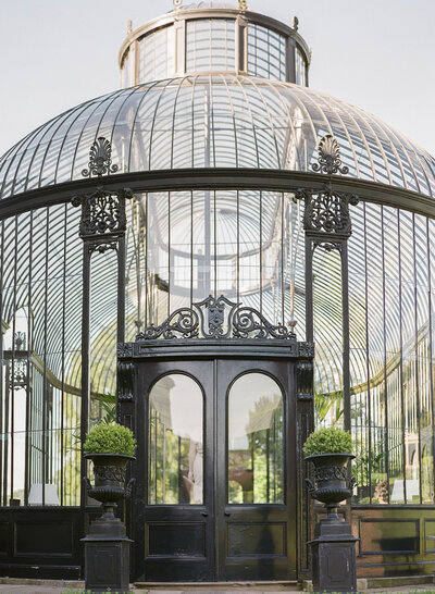 The glass conservatory of Ballyfin House in Ireland captured by Molly Carr Photography