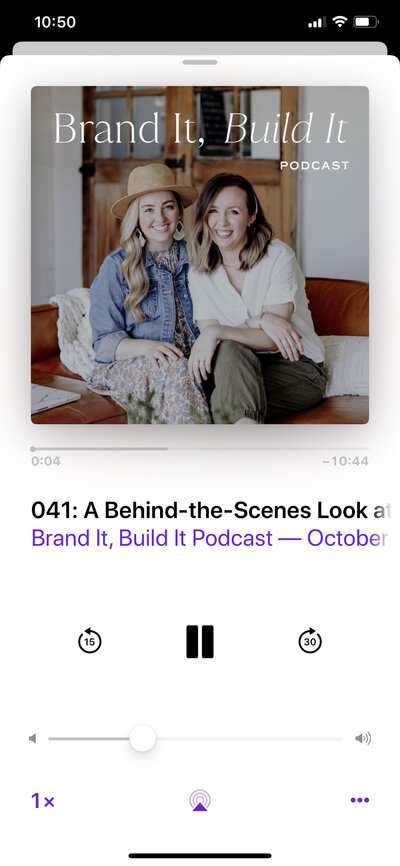 Episode 041 of The Brand It Build It Podcast by With Grace and Gold and The Preset Market