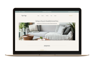 Showit Website Template for Photographers
