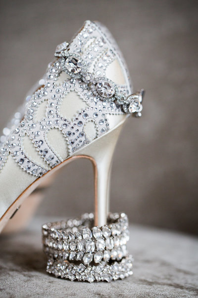 Wedding shoes, bracelet and cuff.
