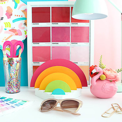rainbow desk organizer-10