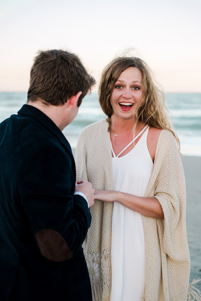 surprise proposal on the beach in Florida