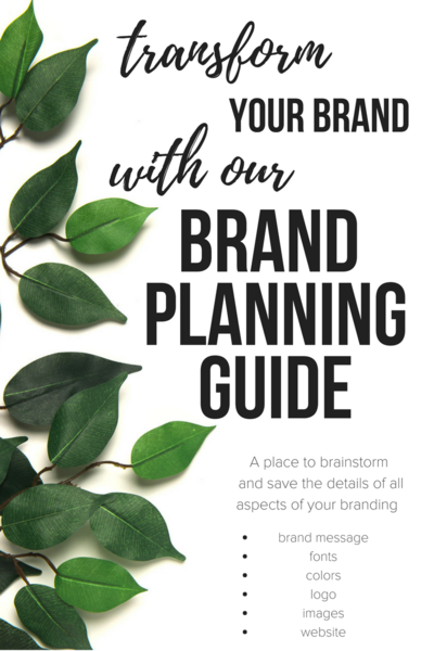 Free Brand Identity Worksheet- Pinterest