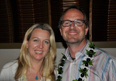 Cheryl Strayed and Albert Picture at Maui Event