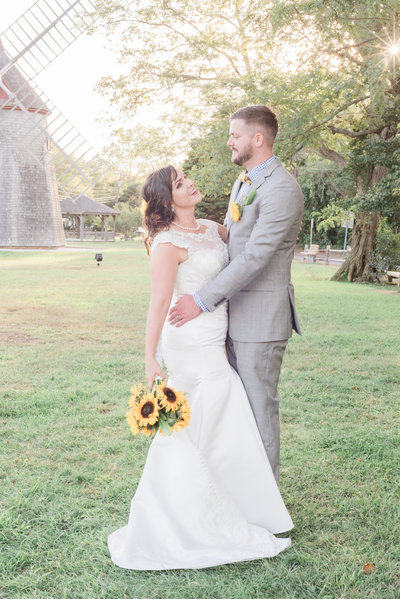 August wedding with sunflowers cape code massachusetts