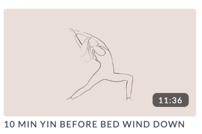 10 Min Yin before bed wind down yoga