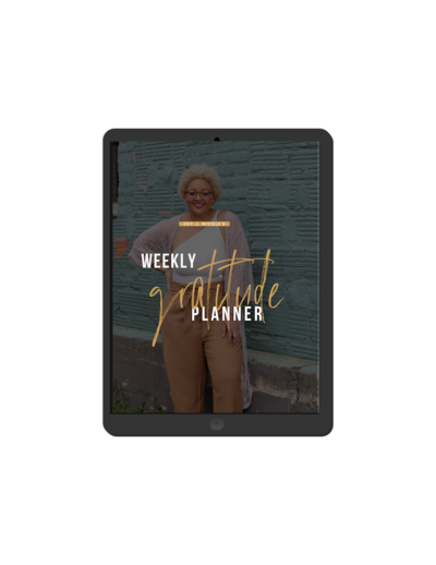 Weekly Gratitude Planner downloadable resource on iPad