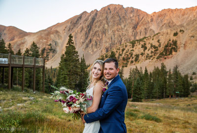 Sunset-Color-on-Continental-Divide-Mountains-at-Fall-Wedding-ABasin
