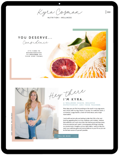 Kyra-Cosman-life-coach-website-showit