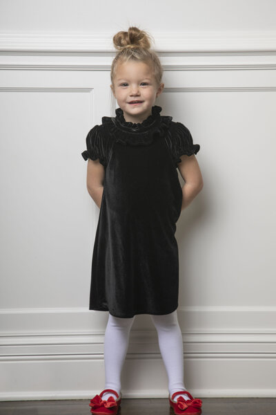 The Violet Dress Little Girls Onyx Velvet 02