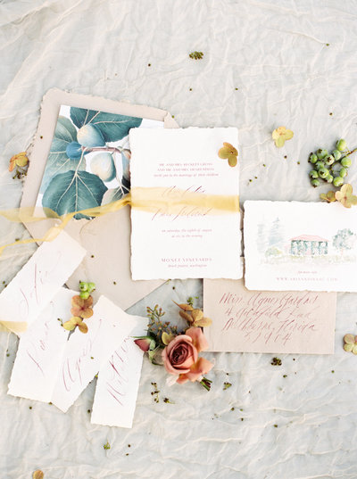 wedding invitation for a hotel crescent dallas wedding