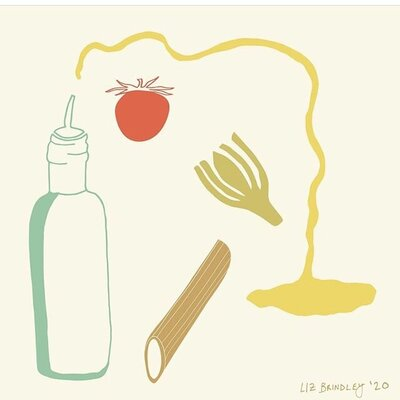 greek pasta illustration