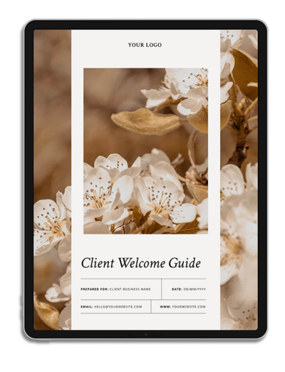 One6Creative_Goodbye Guide iPad Mockup