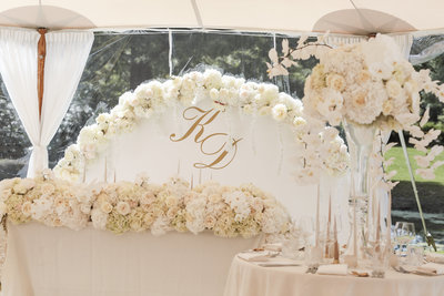 Luxury styling garden wedding