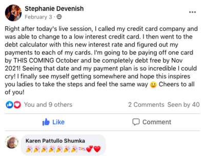 Stephanie Social Proof