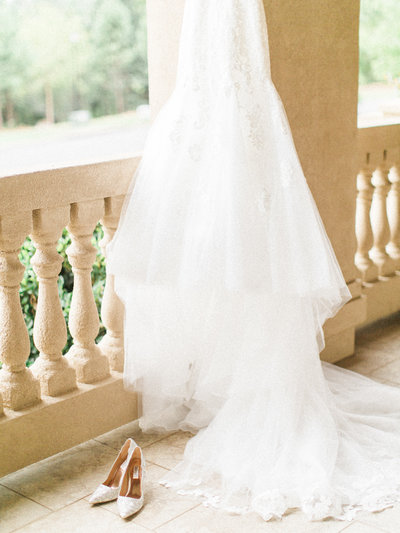 Dress and wedding shoes